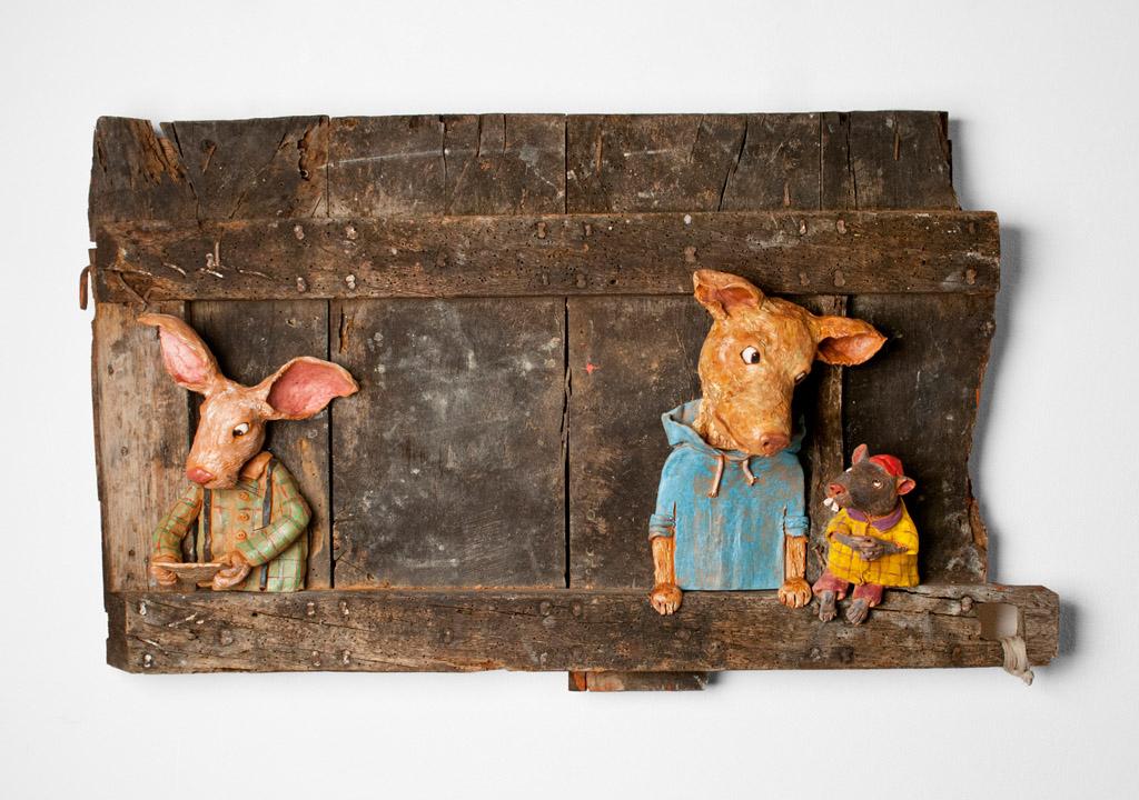 """""""Una preoccupante missiva recapitata in data 14 Novembre"""", (100x45 cm), 2015."""